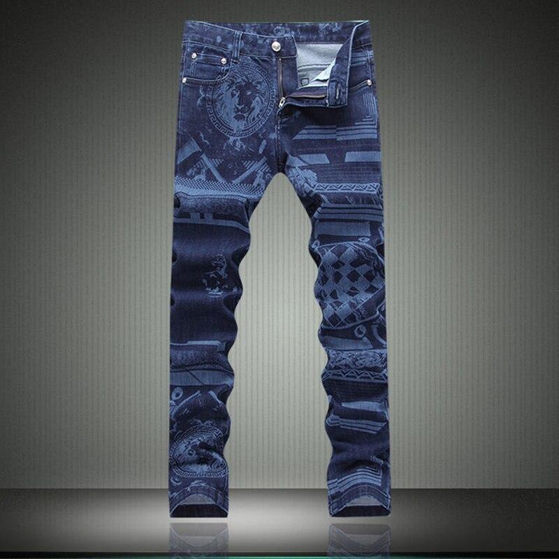 2016 Fall Fashion Winter font b Mens b font Printed font b Jeans b font High
