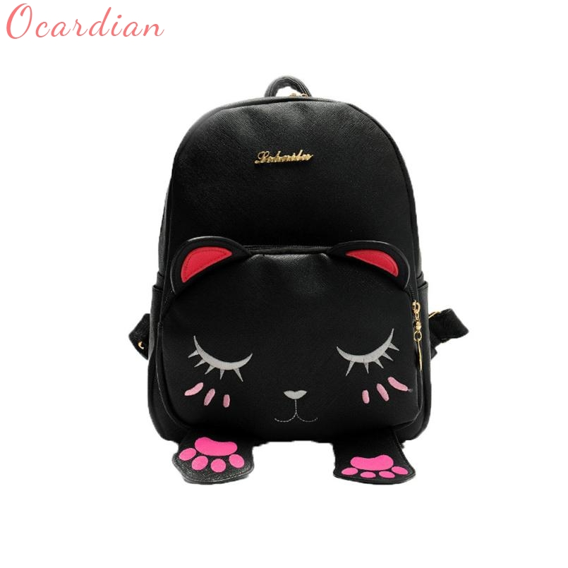 Ocardian backpack Shoulders mochila Solid Bag tigernu 2017 Cat Bag Students Girls Back Pack School Funny Shoulder Travel Bag 12 ...