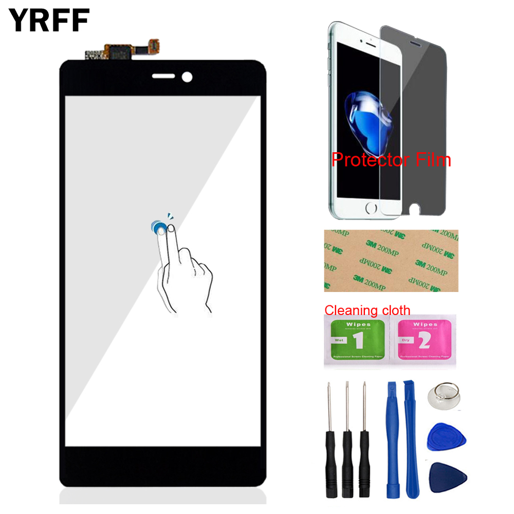 5.0'' Mobile Phone Front Touch Screen Digitizer Panel Glass For Xiaomi Mi4C Mi 4C M4C Mi4i 4i Sensor + Protector Film Adhesive