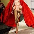 2016 Print Polyester Medias Pantis Woman Stockings Women Tights 2017 Spring New Oil Painting Printing Pantyhose Legs Primer