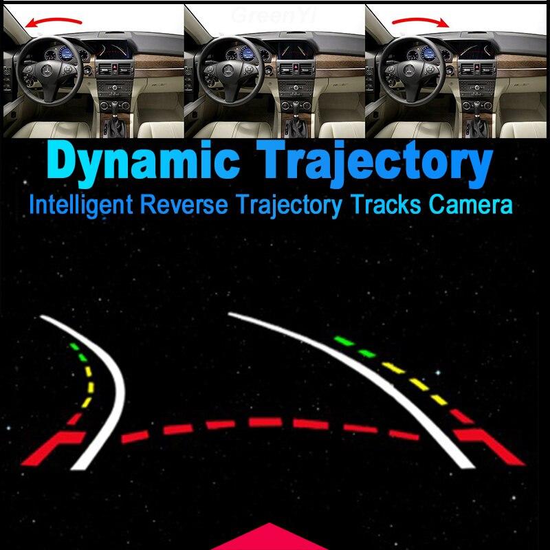 Auto Parking Assistance Intelligent Dynamic Trajectory Tracks Rearview Backup Camera For Benz E W212 C207 W207 E200 E260 E300 5
