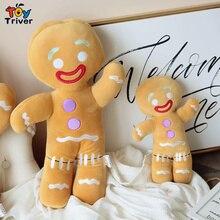 цены Kawaii Anime Gingerbread Man Stuffed Doll Plush Toy Triver Baby Kids Children Toys Birthday Gift Room Decorations Drop Shipping