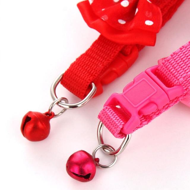 Collier papillon en Nylon couleur bonbon   Mignon, ajustable à la mode, avec nœud papillon pour chien chat, clochette chaton couleur bonbon, colliers