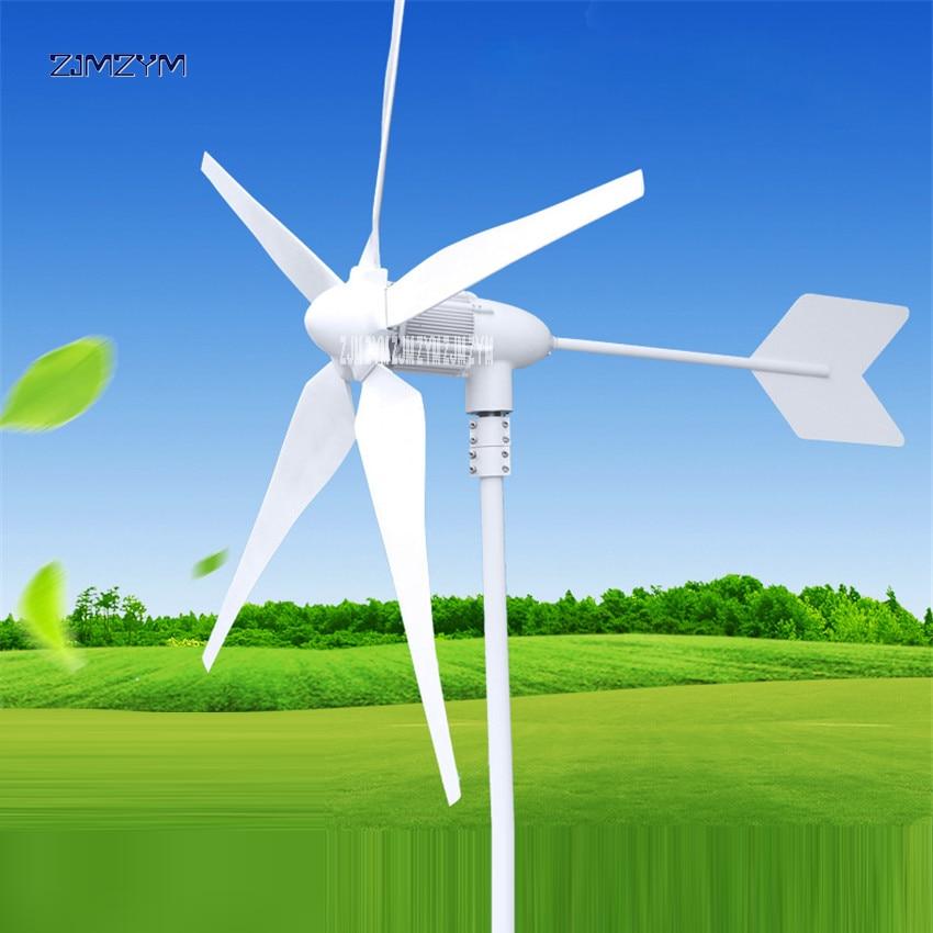 Wind Turbine 5 Blades Rated 600W 12 V/ 24V/48V Wind Generator Wind Solar Hybrid Charge Controller Wind Power Generator Z-600W wind power generator 600w 24v 3 blades or 5 blades windmill generator with solar and wind hybrid controller 200 600w