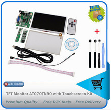 Free Shipping + Tracking No. HDMI/VGA+Control Driver Board+7inch AT070TN90 800×480 LCD Display+Touch Screen For Raspberry Pi