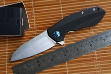 Jufule 0456 Flipper folding knife ball bearing D2 blade G10 handle outdoor Survival camp hunting pocket EDC tool Kitchen knife