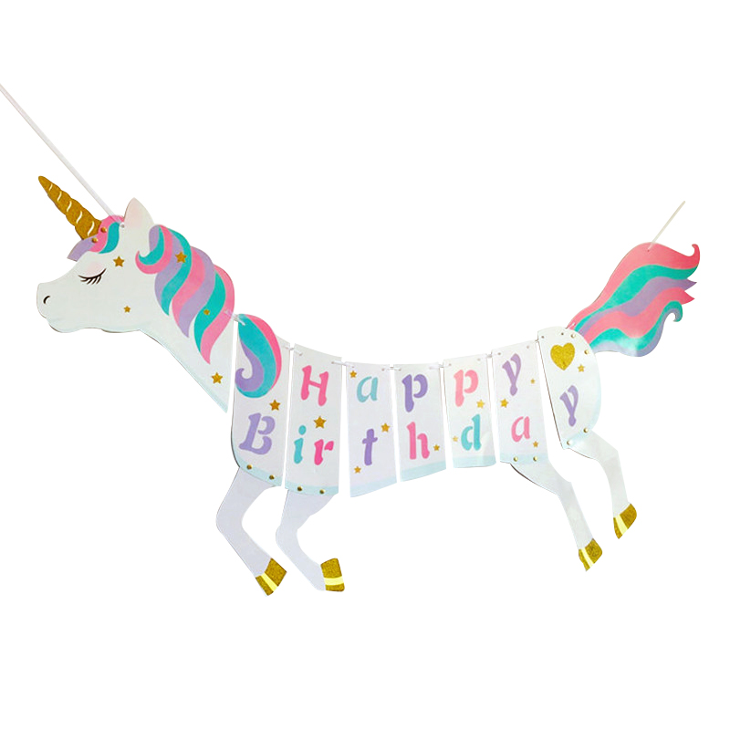 Unicorn Party Decorations Happy Birthday Flag Banner Birthday Party Decorations Kids Baby Shower Festive Event Party SuppliesUnicorn Party Decorations Happy Birthday Flag Banner Birthday Party Decorations Kids Baby Shower Festive Event Party Supplies