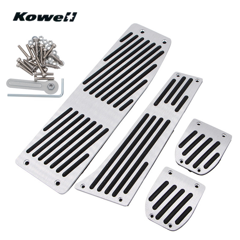 M-Logo Foot Rest Fuel Brake Clutch Pedals Plate Cover Car Pedal Pads For BMW 3 Series 3Series X1 E30 E36 E46 E87 E90 E91 E92 E93