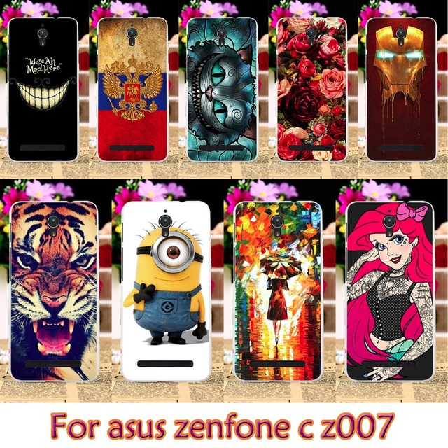 AKABEILA Soft TPU Plastic Case For Asus z007 zc451cg Case For Asus ZenfoneC ZC451CG Z007 Zenfone C 4.5 inch Case Cover housing