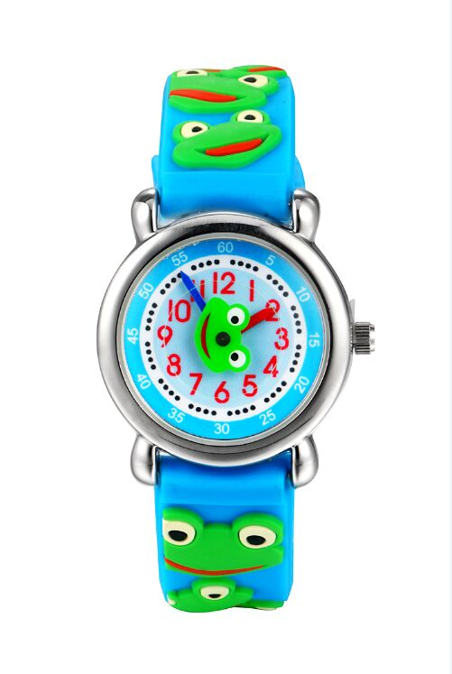 TOP Quality waterproof Watch Kids frog Watches 2016 Children s 3D cartoon Wristwatch Analog silicone Band