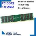 KBN800D2N6/4 Г PC-6400 DDR2 800 МГц 4 ГБ 4 Г 4 Бит Памяти Ram Memoria для AMD Desktop PC Бесплатная Доставка Пожизненная Гарантия