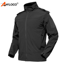 Tactical Jacket Men Coat Army Military Jacket Winter Waterproof Soft Shell Jackets Outerwear Hooded Windbreaker Hunting Clothes men s tactical army outdoor coat waterproof soft shell combat jacket hunting jacket