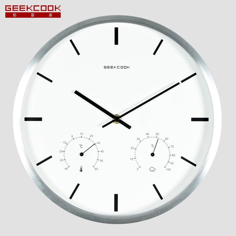 Geeckcool 12 inch Multifunctionele Metalen Mute Wandklok Schaal ...