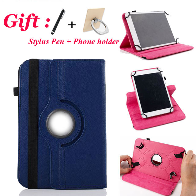 3in1 360 Degree Rotating for Prestigio MultiPad Wize 3131 3G PMT3131_3G_D 10.1 Inch Tablet Universal PU Leather Cover