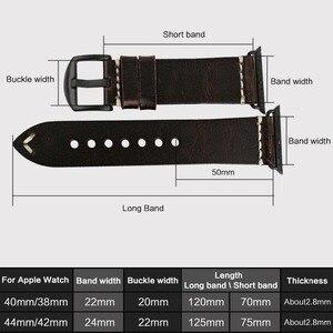 Image 3 - MAIKES שעון אביזרי אמיתי פרה עור עבור אפל שעון להקות 44mm 42mm & iwatch רצועת 40mm 38mm סדרת 4 3 2 1 צמידים