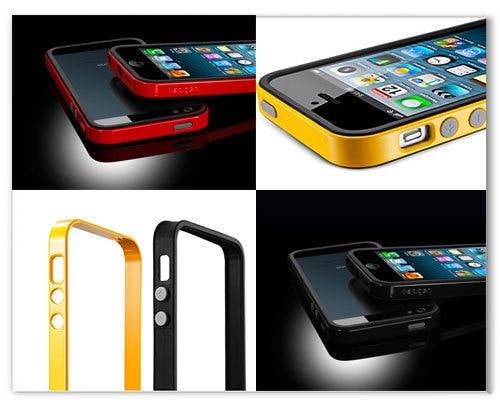 huge selection of dc418 e35b3 US $26.26 |5pcs NEO HYBRID Linear EX Slim SPIGEN SGP Bumper case for iPhone  5 5G Protective Frame, Metal Color, Free Screen Protector on ...