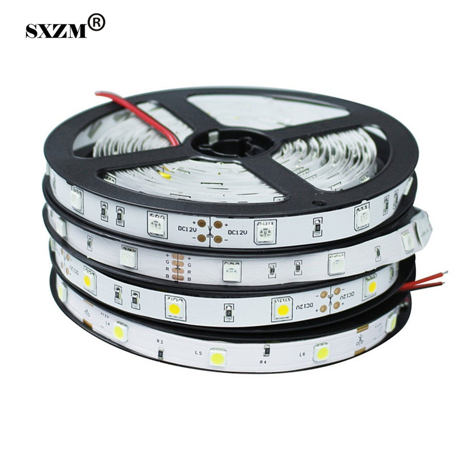 DC12V 5050 Led Strip Light Non-waterproof LED Tape 30led/M,5M RGB White Warm White Holiday Christmas Decoration Led Light