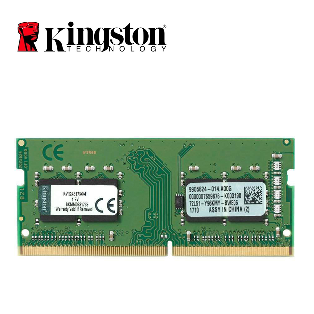 Kingston Memory RAM DDR4 4G 2400MHZ PC4-19200S CL15 260Pin 4GB For Laptop RAM
