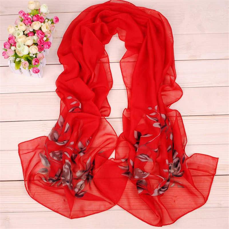 Nuevo 150*45cm de la gasa de moda impreso pañuelos pañuelo largo de mujer ropa al por mayor venta al por mayor de accesorios