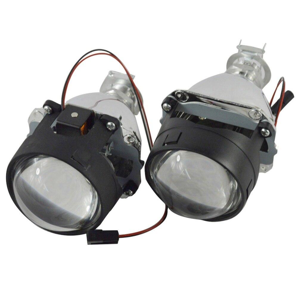 WST 2.5 polegada auto Bixenon carro ESCONDEU lente do projetor bi xenon lente H4 H7 H1 H11 9005 9006 bi- xenon faróis lente do projetor de luz