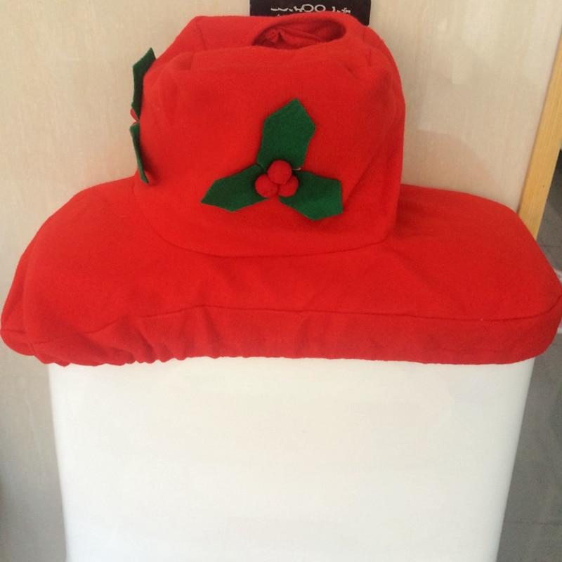Hot 1set 3pcs Cartoon Christmas Fancy Santa Claus Toilet Seat Cover Mat Tank Cover Bathroom Set Christmas Washroom Decoration