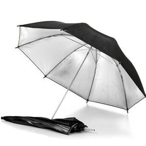 Image 5 - 43 inch/110 cm Fotografia Pro Studio Flash Riflettore Nero Argento Riflettente Ombrello È utile in professionale studio di ripresa