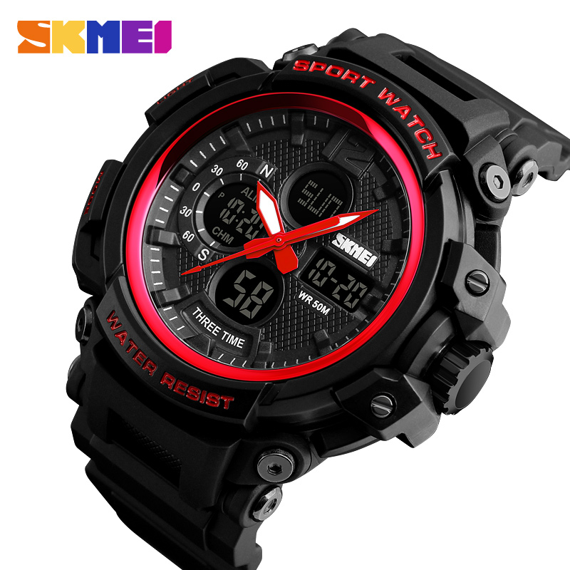 <font><b>SKMEI</b></font> Outdoor Sport Army Military Watch Clock Top Brand Man Watch Men's Analog Quartz Digit LED Watches Relogio Masculino <font><b>1343</b></font> image