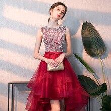 Black Evening Dress Party Female New Dinner Elegant Evening Dress High Low  Flower Host Banquet Dress 5a3e5b7ea807