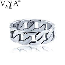 Comercio al por mayor 100% Real Pura Plata Esterlina 925 Anillo Punky anillo Giratorio envío libre de tallas grandes Hombres de Joyería Fina Joyería HYR014