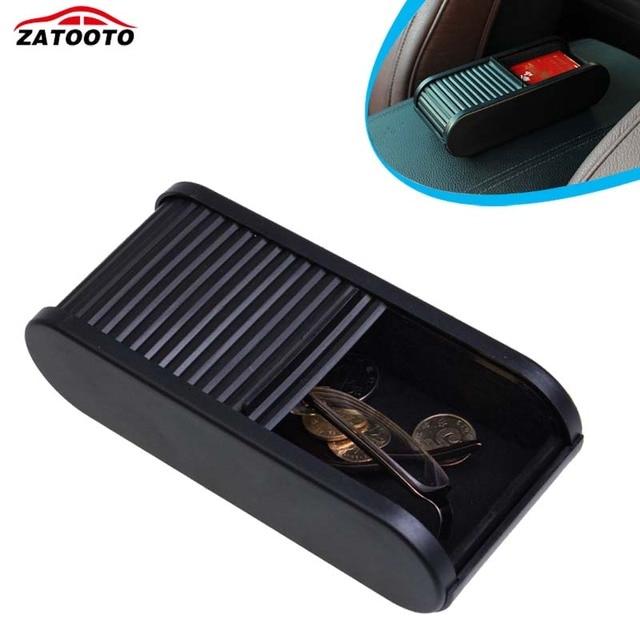 Plastic Car Coin Box Holder Money Change Debris Storage Box Black Car Container Organizer Auto Accessories