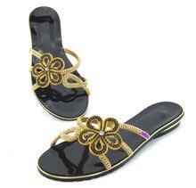 ใหม่แฟลตฤดูร้อนโรมันรองเท้าแตะขนาดบวก41ลูกปัดพลอยผู้หญิงโบฮีเมียนรองเท้า37-43รองเท้าFemininos