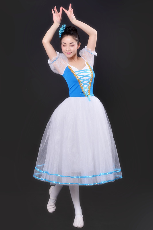 Professional Ballet Leotards For Women Adult Romantic Ballet Tutu Rehearsal Long Tulle Practice Skirt Ballet Dress For Girl Kids