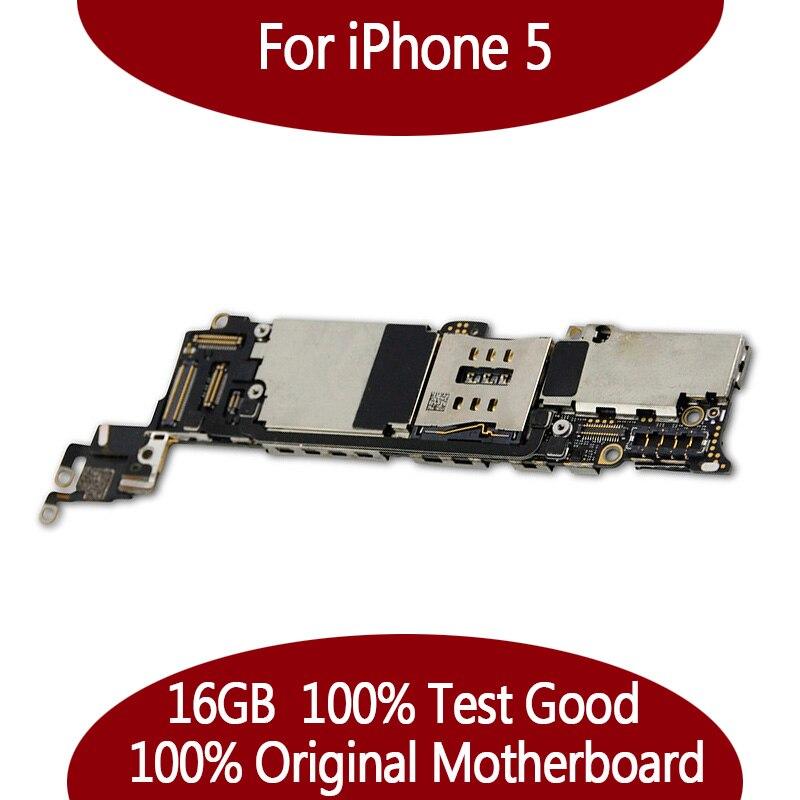 16 GB débloqué Original pour iPhone 5 carte mère, 100% test pour iPhone 5G Carte Mère avec puces