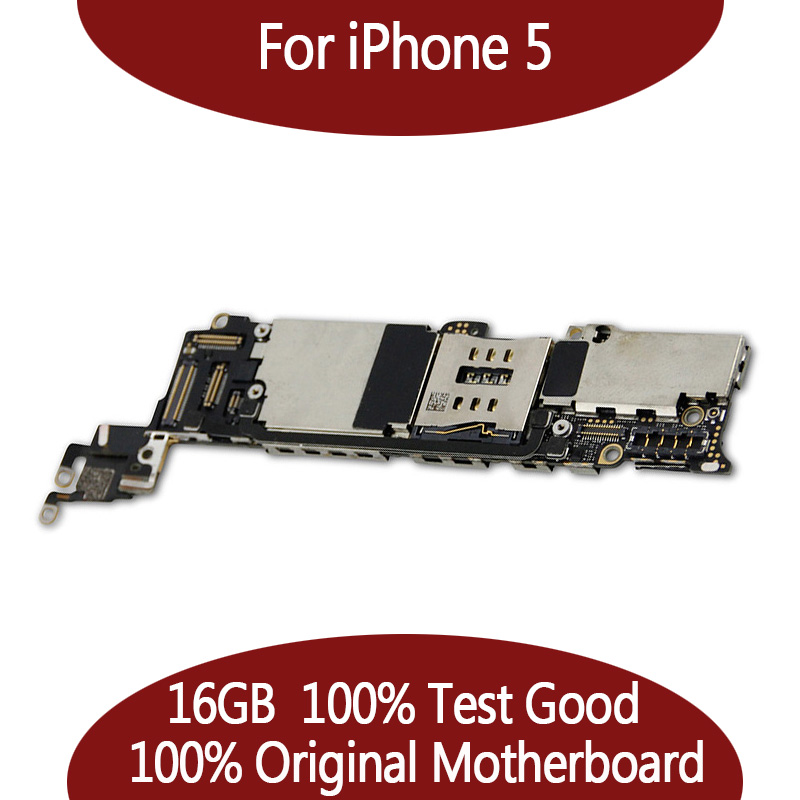 16GB Original unlocked for iPhone 5 motherboard,100% test for iPhone 5G Mainboard with chips