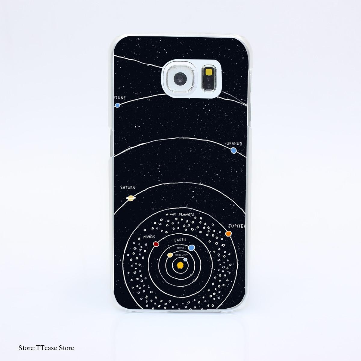 3065G Solar System Drh Print Hard Transparent Case Cover for Galaxy S3 S4 S5 & Mini S6 S7 & edge