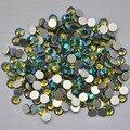 Olivina AB cor ss3, Ss4, Ss5, Ss6, Ss8, Ss10, Ss12, Ss16, Ss20, Ss30 cristal de volta plana não Hotfix Nail Art cola em strass