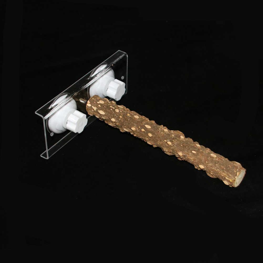 Аксессуары подарок нескользящий игровой окунь товары для домашних животных держатель Красивая прочная жевательная игрушка Висячие деревянные насест для попугая портативный