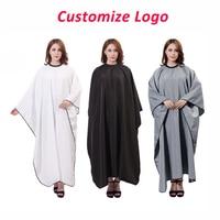 Customize Logo Extra Large Hairdressing Cape Apron Haute Couture Salon Customer Cloth Haircut Perm Dye Gown Cover Uniform U1221