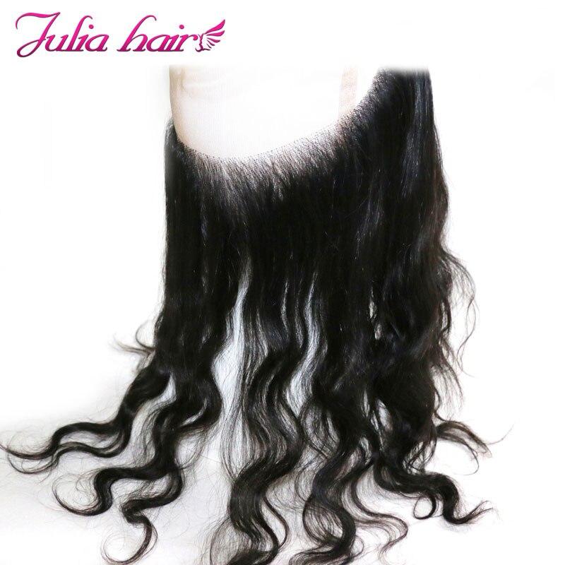 Ali Julia Hair 13*4 Brazilian Straight Frontal 10-20 Human Hair Ear to Ear Lace Frontal Free Part 120% Density Remy