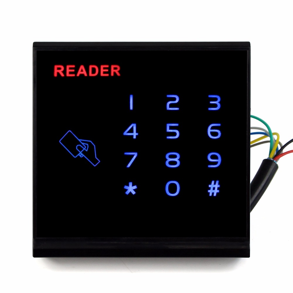 Touch Keypad RFID Card Reader Access Control System EM-ID Card Reader with Wg26 Waterproof for Door Access Control F1740A e74 support wg26 reader 600 user rfid door controller waterproof password keypad access control id card wireless keyboard system