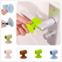 3Pcs After Wall Thickening Mute Door Fenders Sucker Rubber Handle Lock Protective Pad Protection Home Decoration Accessories