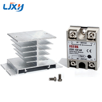 LJXH SSR 10AA 25AA 40AA 75AA 100AA Solid State Relay and Aluminum Heat Sink AC to AC 80 250VAC Input 24 380VAC Output|Electric Water Heater Parts|Home Appliances -
