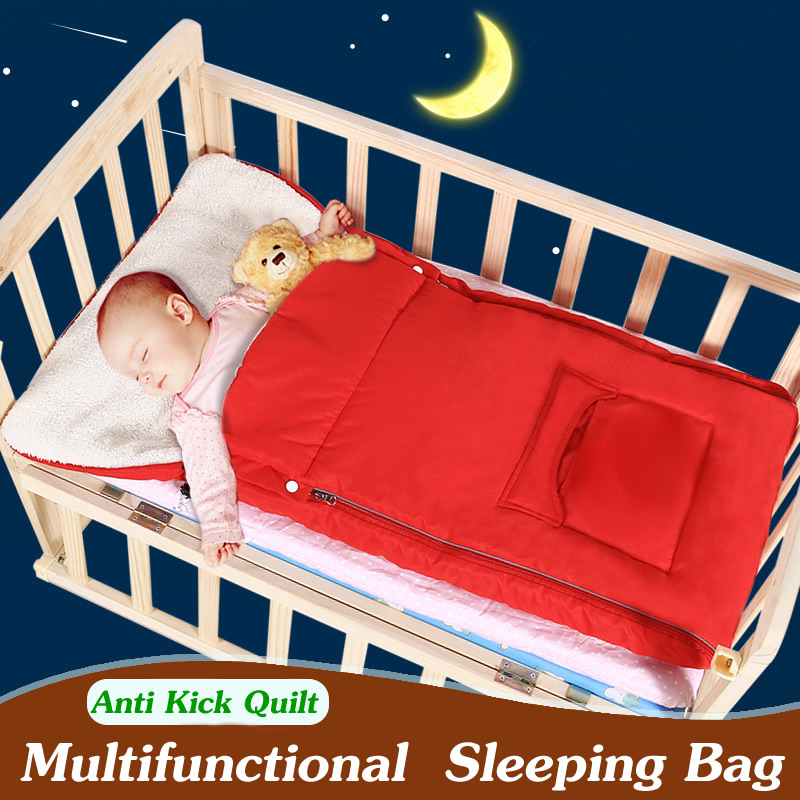 Multifunctional Baby Sleeping Bag Winter Baby Stroller Sleeping Bag Infant Sleeping Bag For Crib Anti-kick Baby Quilt SD04 цены