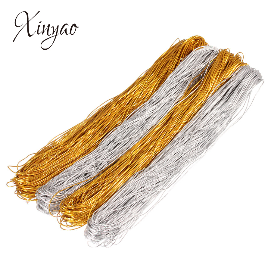 Xinyao 50m Gold Silver Color Elastic Stretch Cords 1mm 1