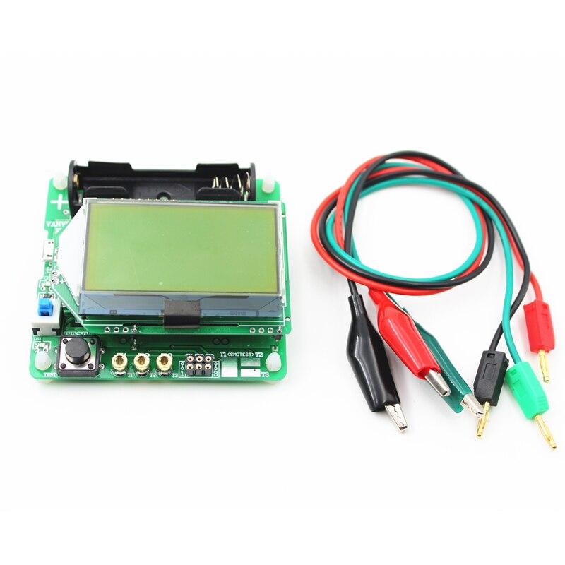 New M328 Transistor Tester LCR Capacitance ESR Meter USB Charging W// Test Clip