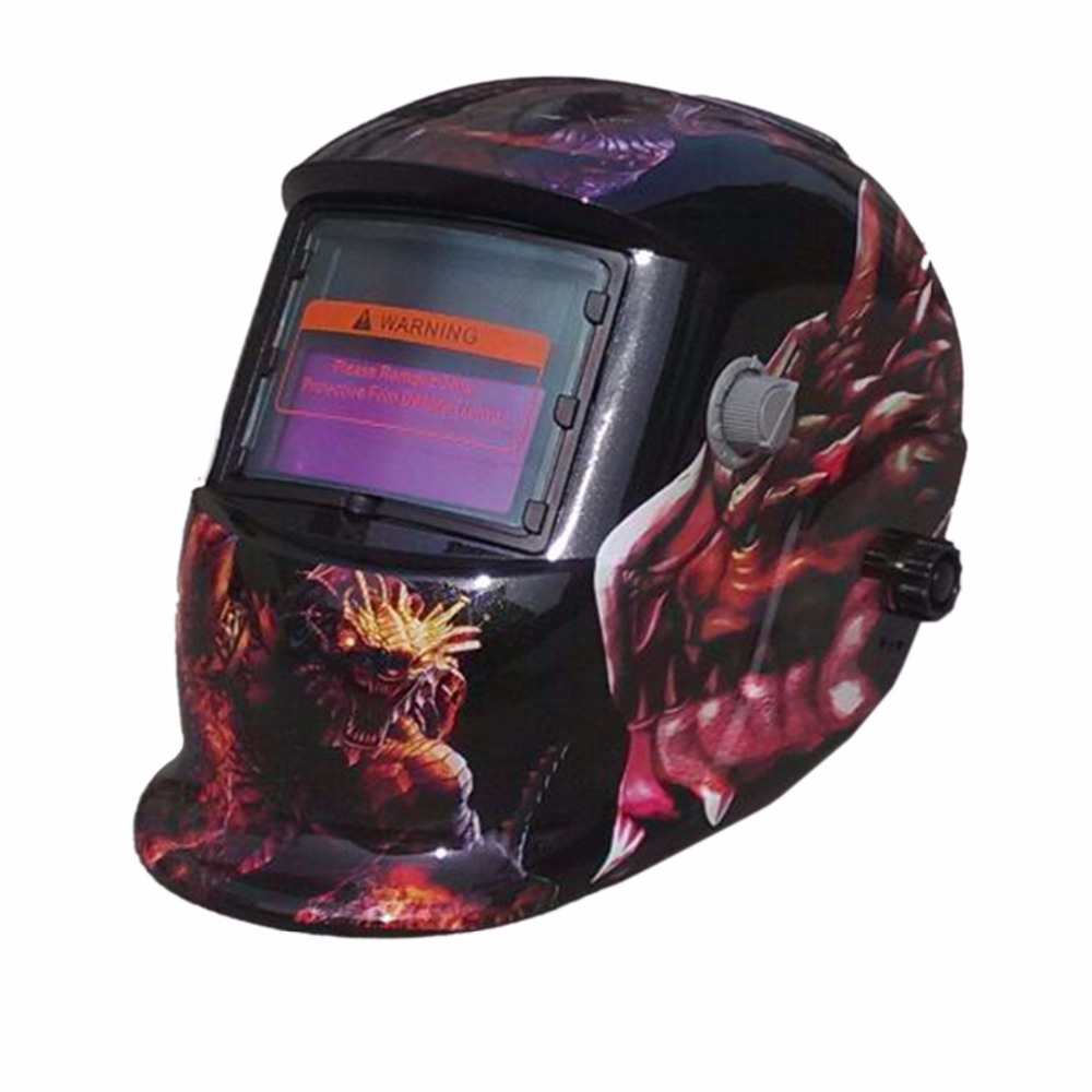 Solar Auto Darkening TIG MIG MMA Electric Welding Mask/Helmet/Welder Cap/Lens for Welding Machine DW-50KL solar auto darkening welding helmet mask welder glasses for the mig tig mag kr ky welding machine and plasma cutting machine