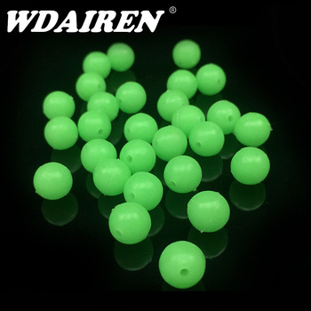 100-200pcs/lot Luminous Beads Fishing Space Beans round Float Balls Stopper light Balls sea Fishing Tackle lure Accessories