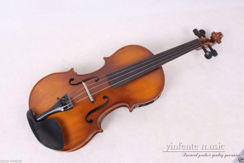 New 4/4 Electric acoustic Violin Powerful Sound High quality Nice Sound #1-3 beautiful sky blue violin high quality china acoustic violin 1 4 3 4 4 4 1 2 1 8 size send with bag