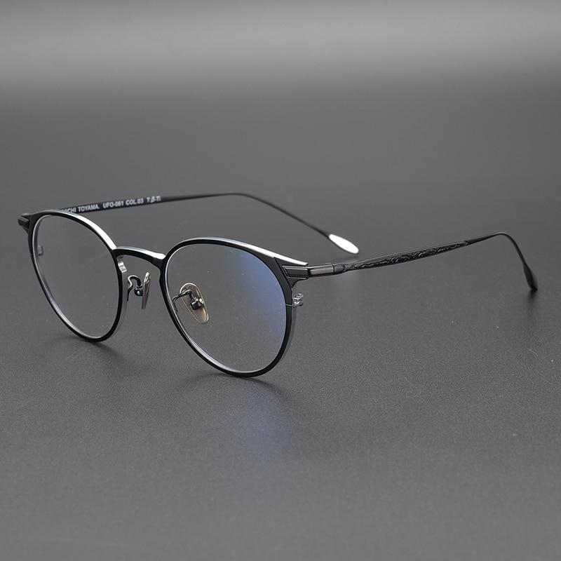 2019 Pure Titanium Round Eyeglasses Frame Optical Frames Unisex Glasses Retro Eyeglasses Prescription Men Women Myopia Frames