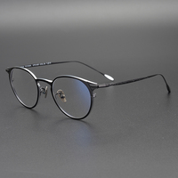 2019 Pure Titanium Round Eyeglasses Frame Optical Frames Unisex Glasses Retro Eyeglasses Prescription Men Women myopia frames